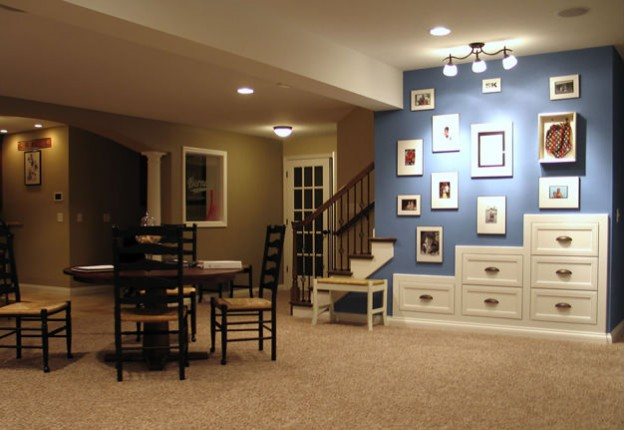 Basement Sports Bar & Living Space Design & Finish Belleville, IL
