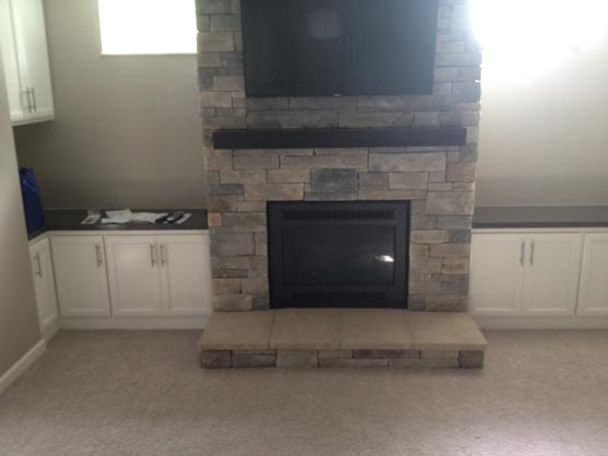 Custom Gas Fireplace Padgett Building Remodeling